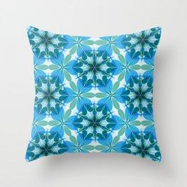 Kaleidoscopic Lagoon Throw Pillow