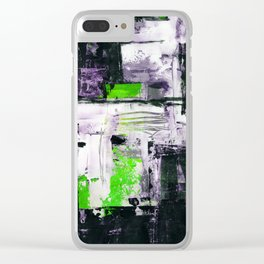 Transcendental Composition No.1d by Kathy Morton Stanion Clear iPhone Case