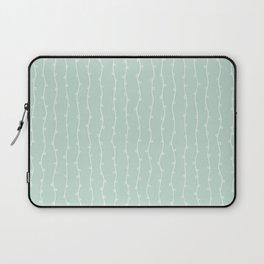 Willow Stripes - Sea Foam Green Laptop Sleeve
