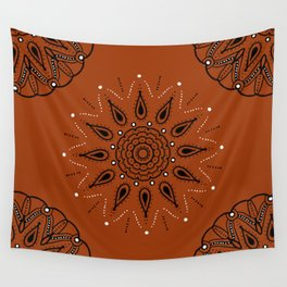 Central Mandala Curry Wall Tapestry