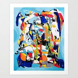 Blue Essence Art Print