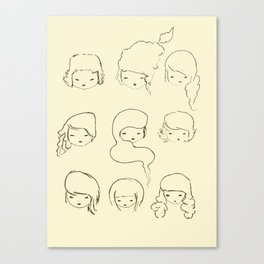 today's face Canvas Print