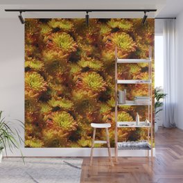Fall Chrysanthemums Wall Mural