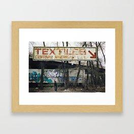 Textiles Framed Art Print