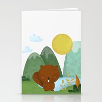 beaver Stationery Cards featuring little beaver by Proyecto Melón