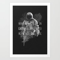 interstellar Art Prints featuring interstellar by Molnár Roland