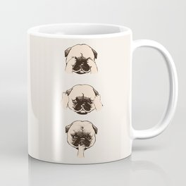 No Evil Pug Coffee Mug
