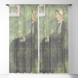 Whistlers Sour Grapes Fine Art Parody Sheer Curtain