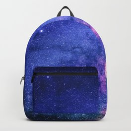 Blue Purple Night Sky, Universe, Galaxy Backpack