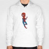 spider man Hoodies featuring Spider-Man by Nozubozu