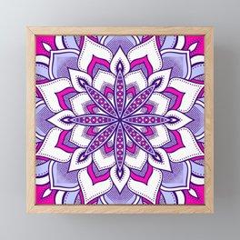 Fuchsia Lavender Flower Mandala Framed Mini Art Print