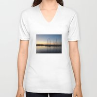 greece V-neck T-shirts featuring Piraceus - Greece by Louise