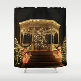 Gazebo Dressed for Christmas Shower Curtain