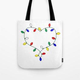 Holiday Love - Tis the Season: Christmas Lights Tote Bag