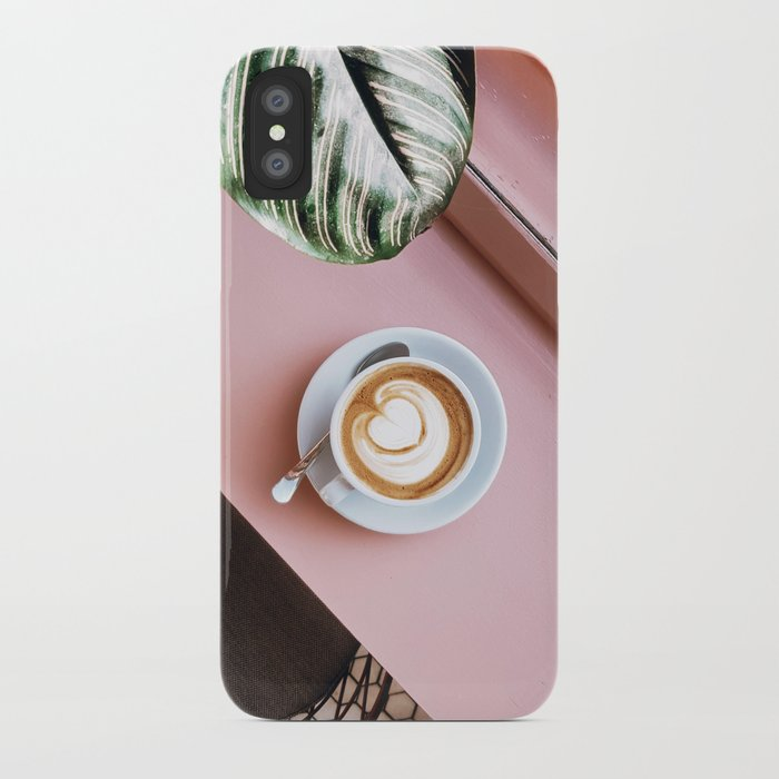 pink latte iphone case