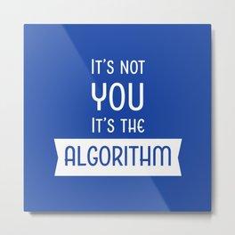 Social Media Algorithm Blues Metal Print