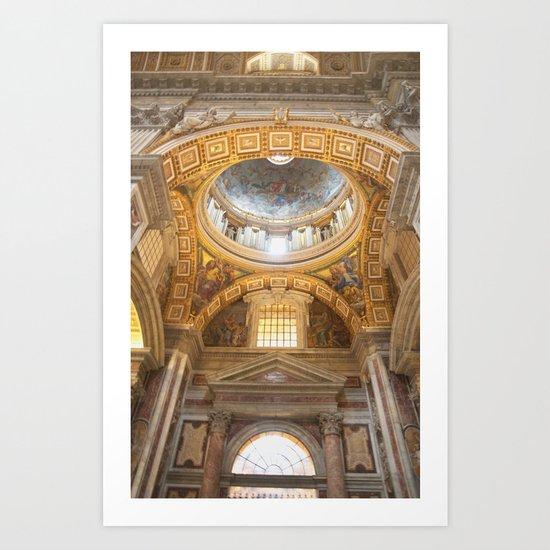 St Peter's Basilica Art Print