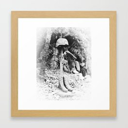 Soldier's Last Stand Framed Art Print
