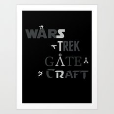 Geek All Stars Art Print