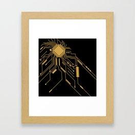 Gold Broken IC Framed Art Print