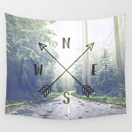 Forest Compass Wall Tapestry
