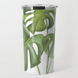 Monstera deliciosa 3 Leaves Travel Mug