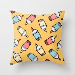 Bubble Tea Pattern Throw Pillow