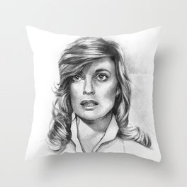 Sue Ellen Ewing Throw Pillow
