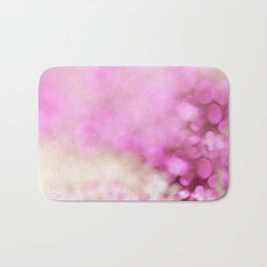Pink and white shiny glitter effect print - Sparkle Valentine Backdrop Bath Mat