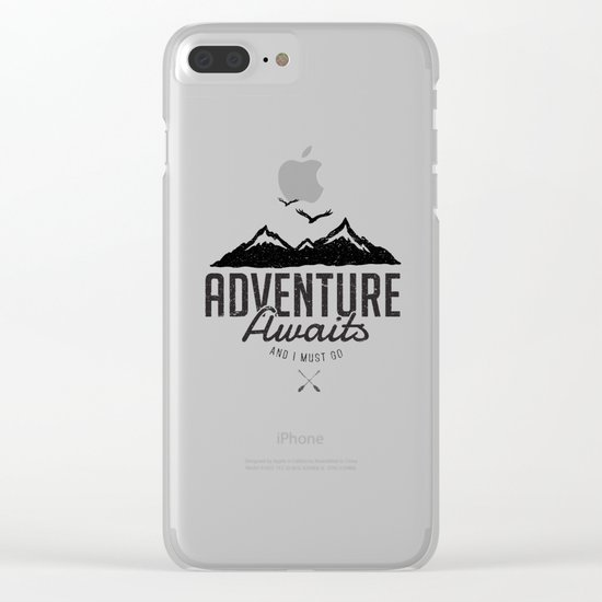 ADVENTURE AWAITS Clear iPhone Case