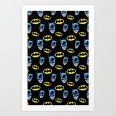 Bat Pattern Art Print