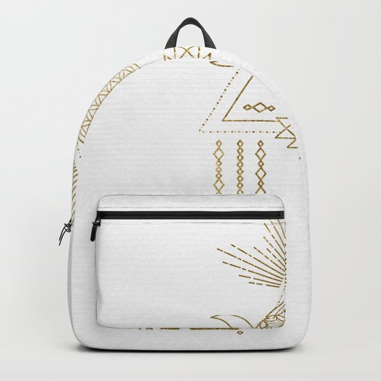 Golden Goddess Mandala Backpack