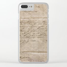 July 1820 Clear iPhone Case