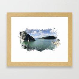 Vidraru Lake Landscape Framed Art Print