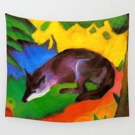 Franz Marc - Blue-Black Fox Wall Tapestry