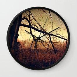 November Photography Art Photo Fall Autumn Wall Clock