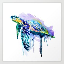 Watercolor Sea Turtle Art Print