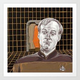 Star Trek: TNG Lt Broccoli Art Print
