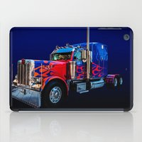 optimus prime iPad Cases featuring Optimus Prime Blue by Steve Purnell