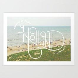 Greetings From Holland, Michigan Art Print