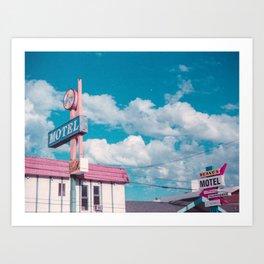 Astro Motel Art Print