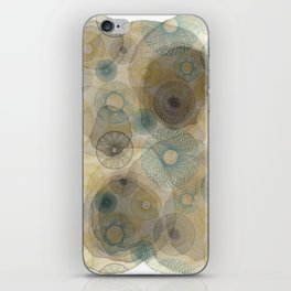 Watercolour Spirograph iPhone Skin