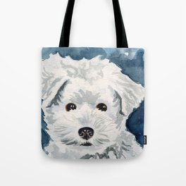 Bichon Frise Watercolor Tote Bag