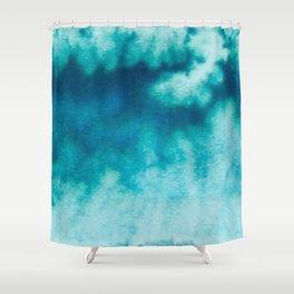 Blue Corruption Shower Curtain