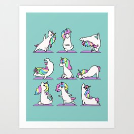 Unicorn Yoga Art Print