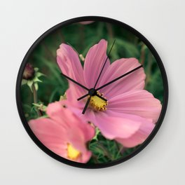 Wild flower in pink Wall Clock