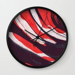Watercolor abstract art Wall Clock