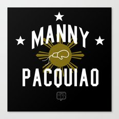 Manny Pacquiao Training Black Canvas Print