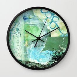 Green IceField Wall Clock