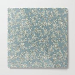 Dust Blue Rose Metal Print